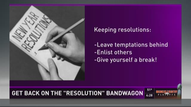 Get back on the resolution bandwagon