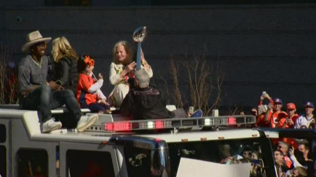 Broncos victory parade held Tuesday