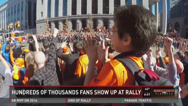Big-time fan turnout at Broncos rally