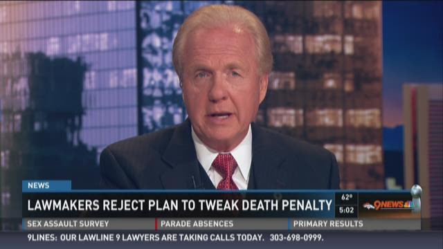 Lawmakers reject plan to tweak death penalty