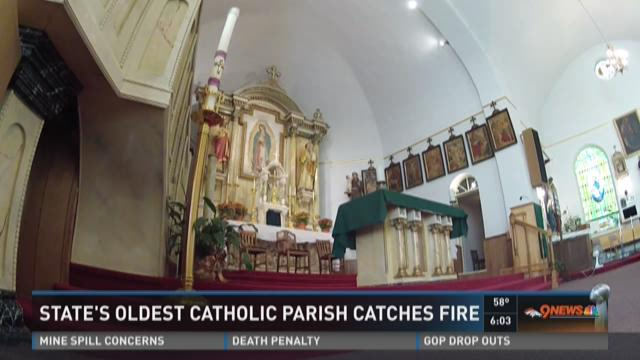 State's oldest catholic parish catches fire