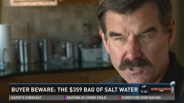 Buyer Beware: The $359 bag of salt water