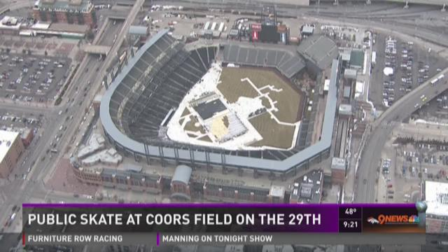 Your chance to ice skate on Coors Field