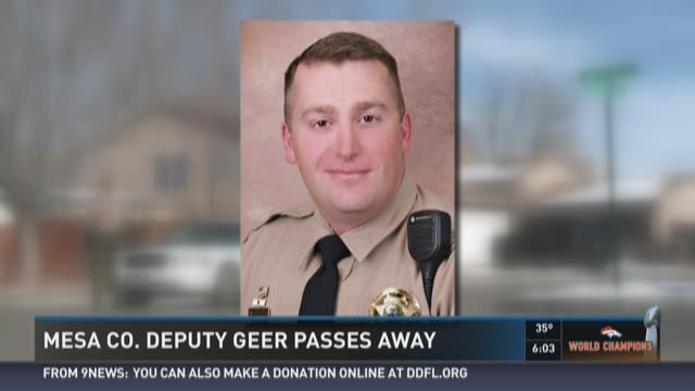 Mesa County deputy Geer passes away