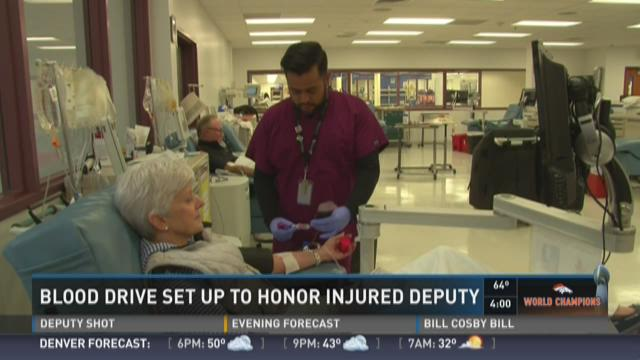 Blood drive set up to honor injured deputy