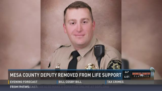 Mesa County Deputy removed from life support