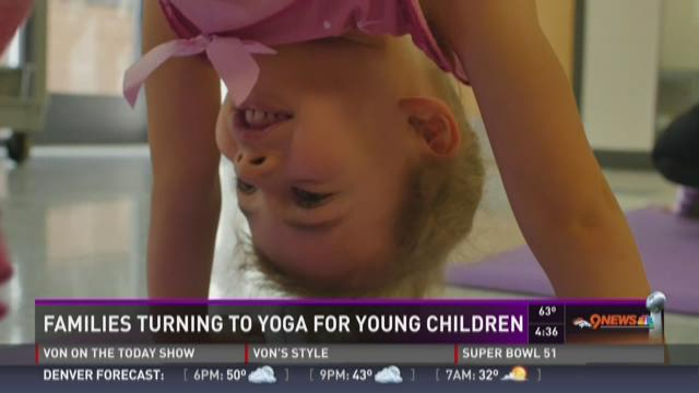 Families turning to yoga for young children