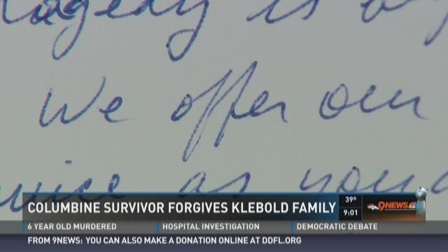 Columbine survivor forgives Klebold family