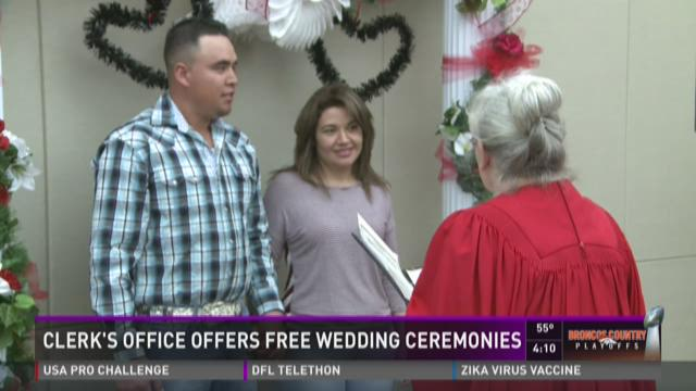 Clerk's office offers free wedding ceremonies