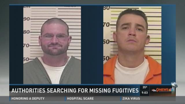 Authorities searching for missing fugitives
