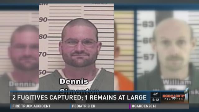 2 fugitives captured, 1 remains at large