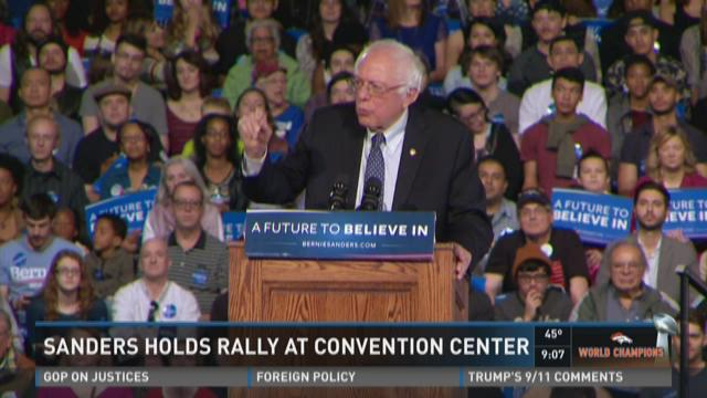 Sanders holds rally at Convention Center