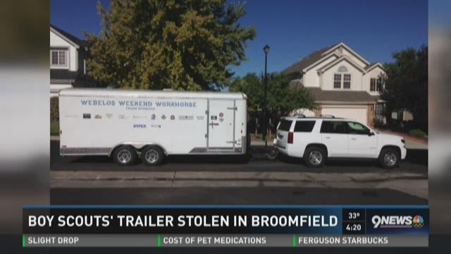 Boy Scouts' trailer stolen in Broomfield