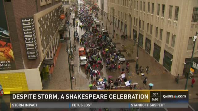 Despite storm, a Shakespeare celebration