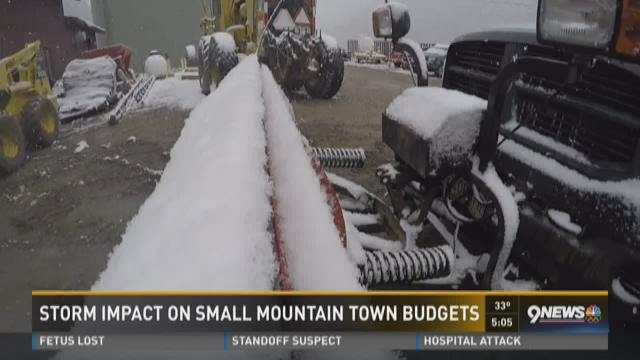 Storm impact on small mountain town budgets
