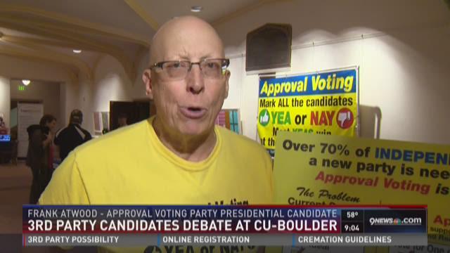 3rd party candidates debate at cu boulder