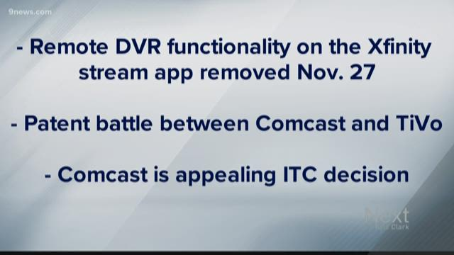 You can't use your Comcast DVR app to record NEXT anymore