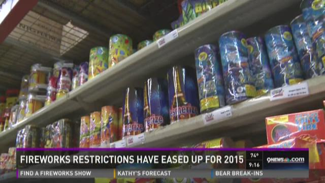 Fireworks restrictions have eased up for 2015