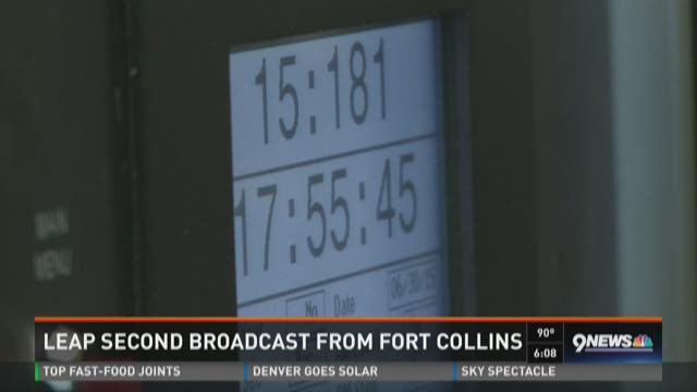 Leap second broadcast from Fort Collins