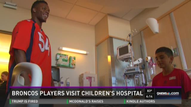Broncos players visit Children's Hospital