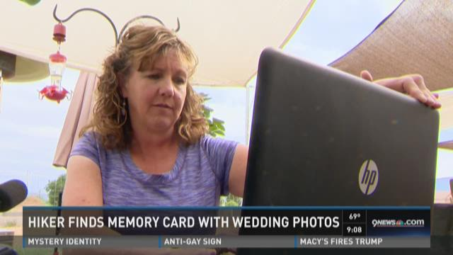 Hiker finds memory card with wedding photos