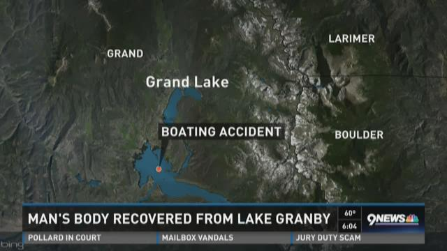 Man's body recovered from Lake Granby