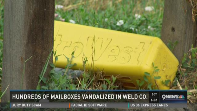 Hundreds of mailboxes vandalized in Weld County