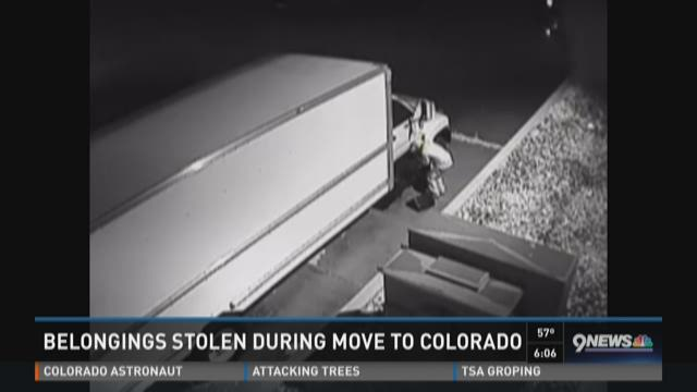 Belongings stolen during move to Colorado