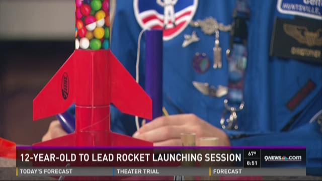 12-year-old launching rocket demo at Elbert County Fair