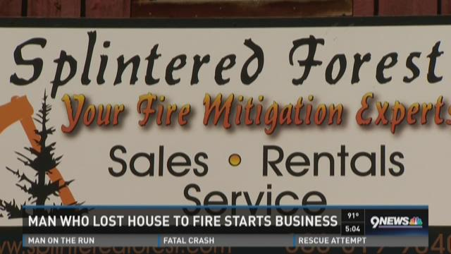 Man who lost house to start fire business