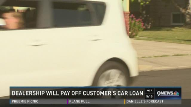 Dealer will pay off woman's car