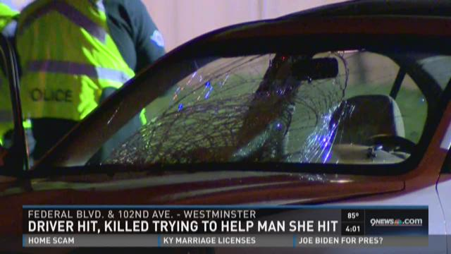 Driver killed while trying to help the man she hit