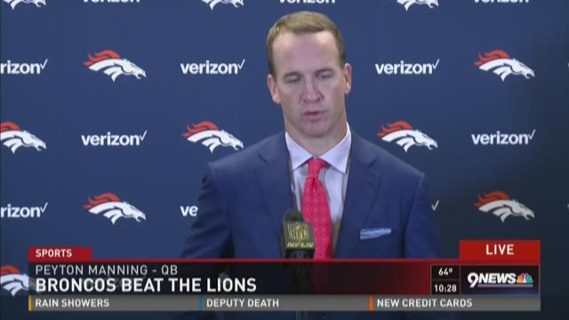 Peyton Manning talks about win