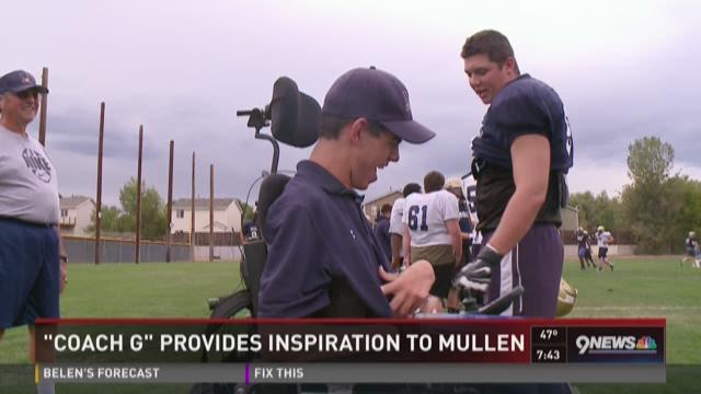 Garrett Lang provides inspiration for Mullen football