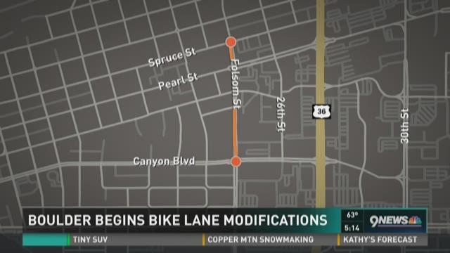 Boulder begins bike lane modifications