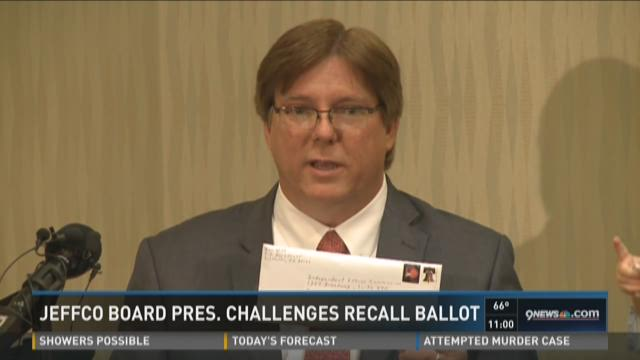 JeffCo Board Pres. challenges recall ballot