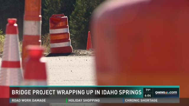 Bridge project wrapping up in Idaho Springs